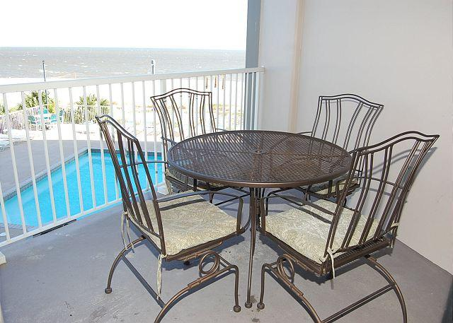 Balcony - Beautiful 2 Bedroom / 2 Bathroom Condo Directly on the Beach SB-303 - Biloxi - rentals