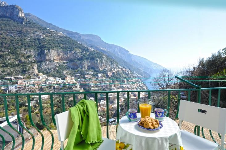 Terrace with view - Collinetta apartment in Positano three bedrooms - Positano - rentals