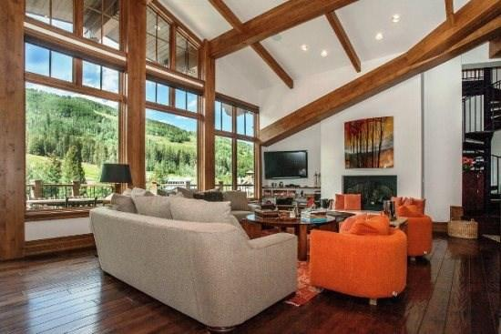 Livingroom - 3,200 sq ft of glorious Penthouse vacation condo at Manor Vail Lodge - Vail - rentals