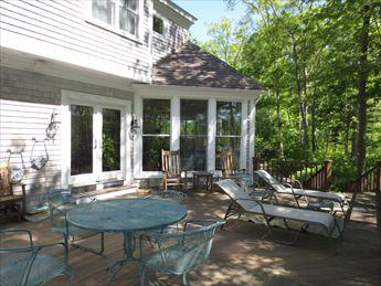 Deck - LARGE BEAUTIFUL PONDFRONT 117145 - East Falmouth - rentals