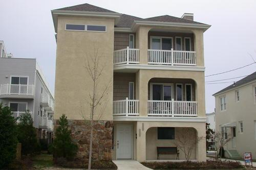 Street View of Front - Ocean City 4BR Beach Block - Ocean City - rentals