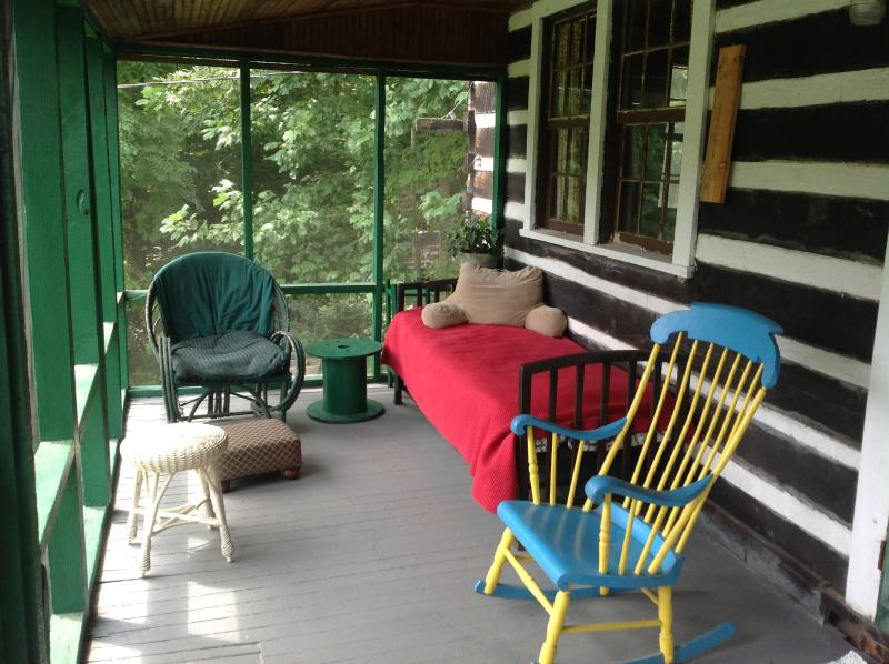 screened in porch - Hummingbird Haven ~ a  rustic cabin you will love. - Fairview - rentals