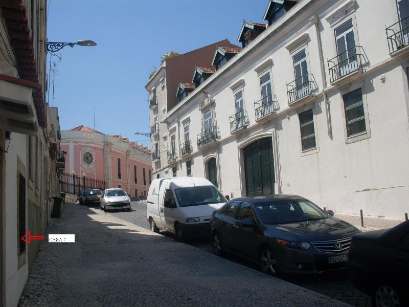 Our Street--arrow to our door - Typical House,Old Lisbon Center,Great Tagus  View - World - rentals