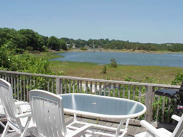 Deck over looking Tidal waters - Waterfront Complex waterview unit by bay- Internet - Wellfleet - rentals