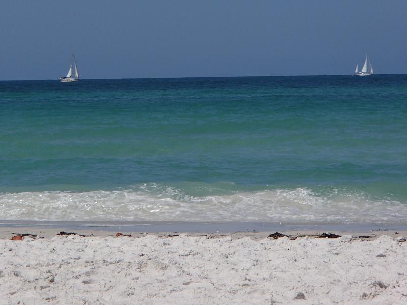 Beautiful soft white sand and clear water - Steps to  Beach, Gulf View, Footprints in the Sand - Bradenton Beach - rentals
