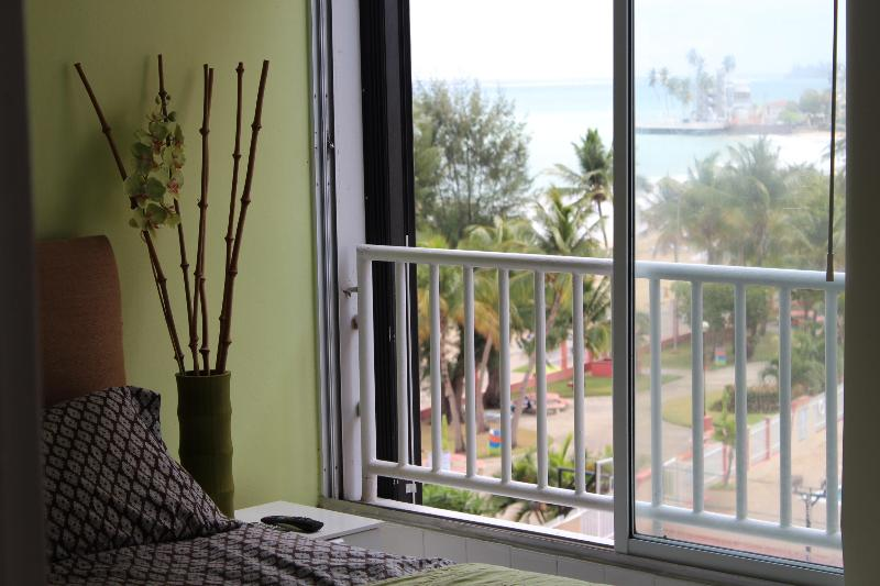 Beach view from the bedroom - Beautiful Beach Front Location  5 minutes from the airport - Alton - rentals