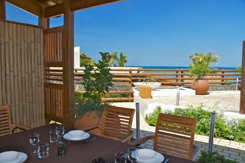 Tamarin Beach Apartments Duplex: View from dining table from terrace - 6, Tamarin Beach Apartments Mauritius - Tamarin - rentals