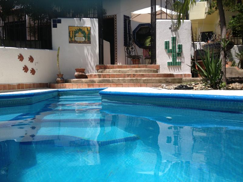 our private pool  - Charming 2 bedroom 2 bath Mexican style home close to beach - Puerto Escondido - rentals