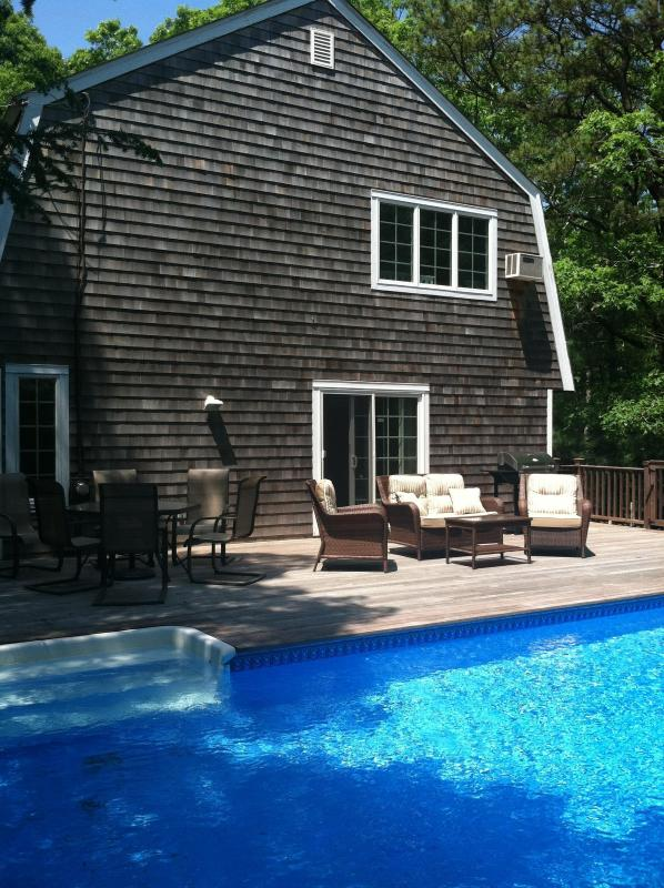 Large Outdoor Living Space With Lounge Area and Dining - Beautiful Hamptons Escape, Great for Entertaining - East Hampton - rentals