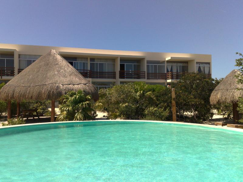 Condo View from the Pool - Condo for Rent in Progreso, Yucatan, Mexico- Just steps to the Beach!!! - Progreso - rentals