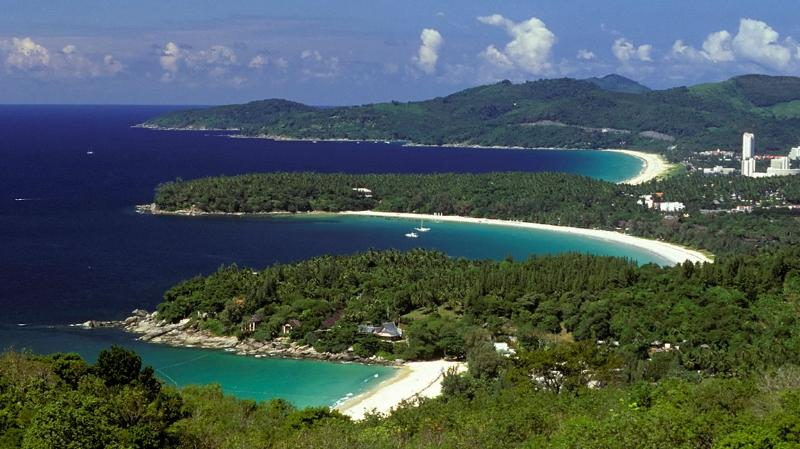 Kata Noi, Kata and Karon Beach seen from Karon viewpoint. All three easily reachable by foot from condo... - Amazing SEAVIEW Condo in Kata... - Kata - rentals
