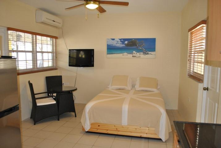 Queen bed - Studio apartment Stone Throw form everything Aruba apartment 2 - Oranjestad - rentals