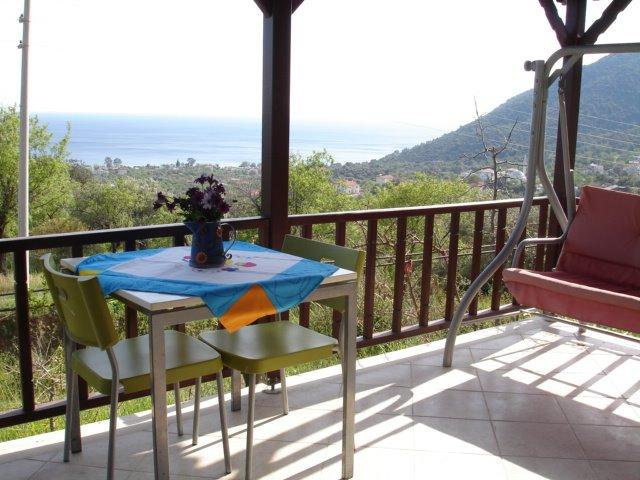 Balcony and view - Holiday house with breathtaking views - Datca - rentals
