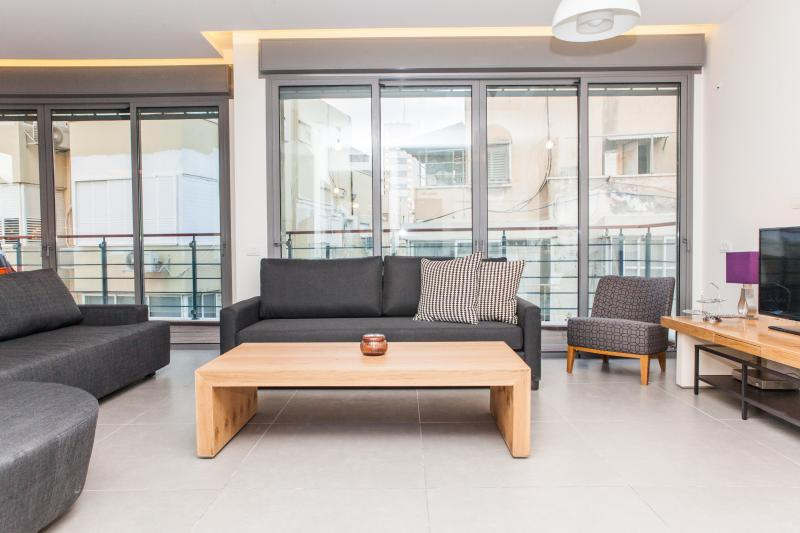 True Luxury, Design, Wood Sun Deck & 3 Min 2 Beach - Image 1 - Tel Aviv - rentals