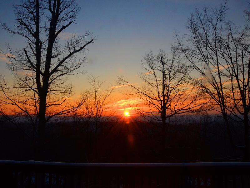 Beautiful sunrises from all four decks and every room in the house. - Modern House w/ Spectacular Mountain Sunrises,WIFI - Berkeley Springs - rentals