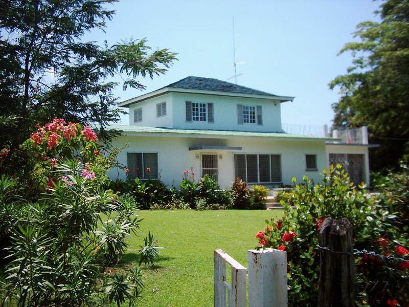 Front of Villa - Villa on semi private Jamaica South Coast beach - Whitehouse - rentals