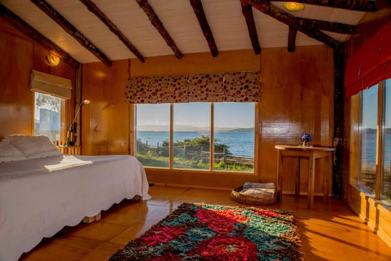 the main bedroom - Beautiful House at the beach, Ancud, Chiloe - Ancud - rentals