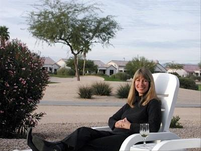 Spacious backyard with views across two mountain ranges  - Mountain Views and Privacy in Sun City Grand - Surprise - rentals