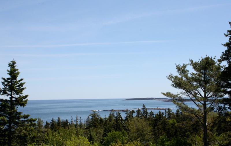 Views to right from Porch - Beautiful Ocean Views! - Seal Harbor - rentals