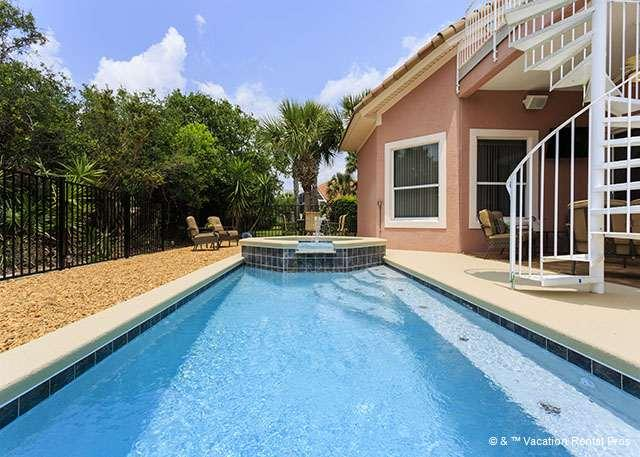 Imagine yourself floating in this sparkling pool! - Casa Del Sol, Heated Private Pool, Near Beach Path - 5 bedrooms - Palm Coast - rentals