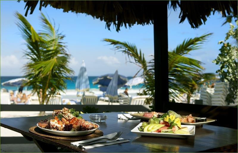 Esmeralda Villa guests enjoy  Coco Beach Bar Offers great meals and drinks on the beach - Esmeralda Villas the perfect private budget retreat for a family or group of friends - Saint Martin-Sint Maarten - rentals