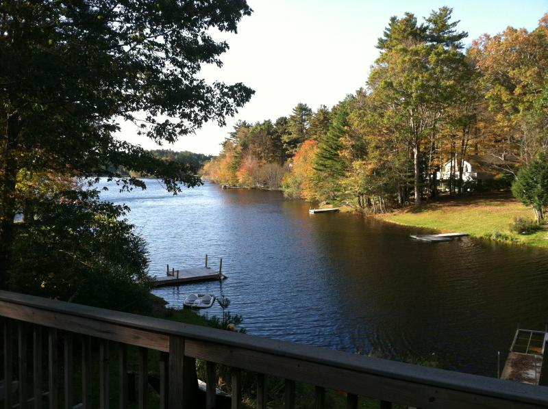 View from the deck - Peaceful Woodstock, CT.  Lakehouse - Woodstock - rentals