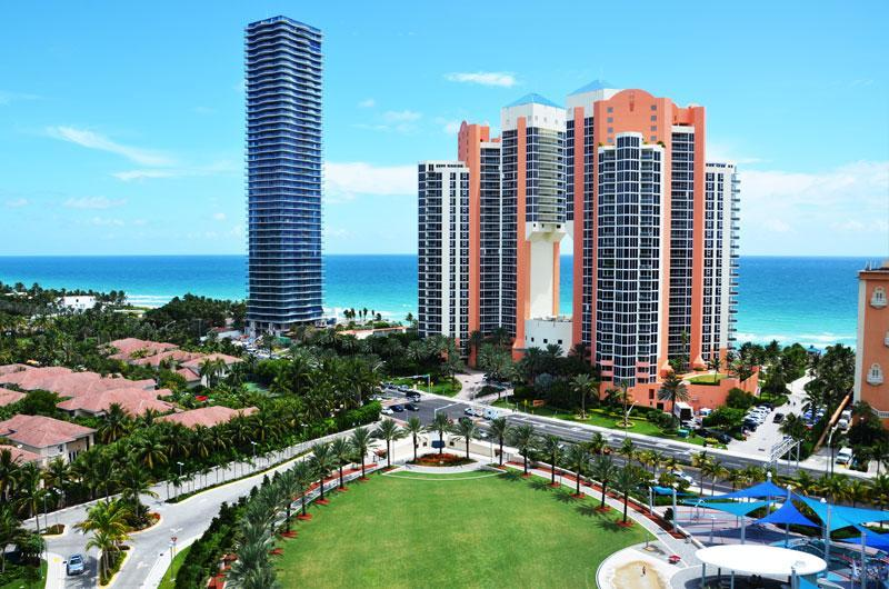 View from the Balcony - Ocean Reserve Luxury Ocean View Beach Front Condo - Sunny Isles Beach - rentals