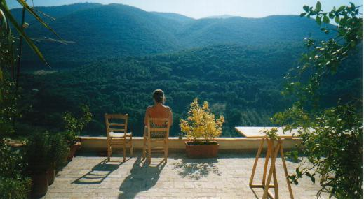 the terrace for chilling out - b&b in Historical Home in   hill town  near Rome - Casperia - rentals