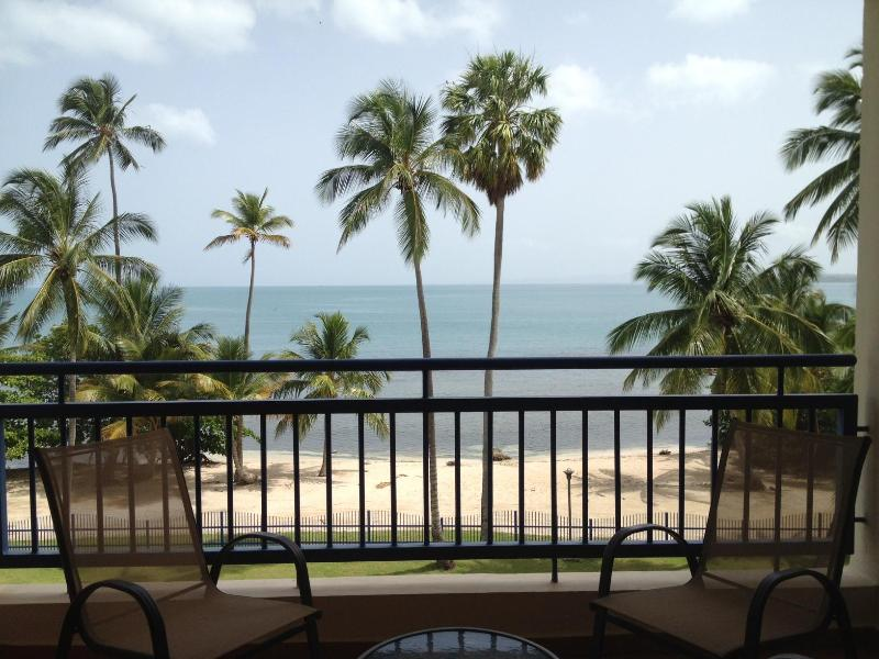 main balcony on 1st level facing the warm and gentle Caribbean Sea - Unique Beachfront Penthouse - Cabo Rojo - rentals