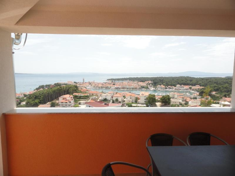 panoramic view of Rab's Old Town and surrounding islands from terrace - AMAZING VIEW!  two bedrooms sleeps 6 people - Rab - rentals