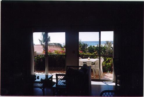 View towards ocean from kitchen - Beacon Hill Towers - Great for groups or families - Baie Rouge - rentals