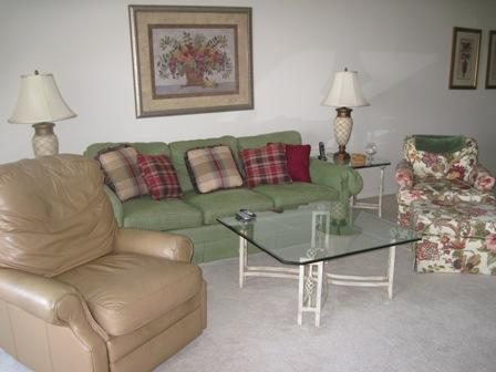 Living Room - Gulfside Mid-Rise Unit - Sarasota - rentals