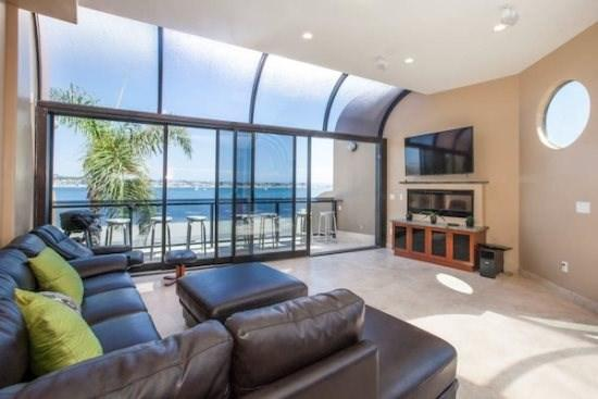 Living Room Entertainment  - Venice Bayfront - Bayfront Luxury 2BR Condo - Mission Beach - rentals