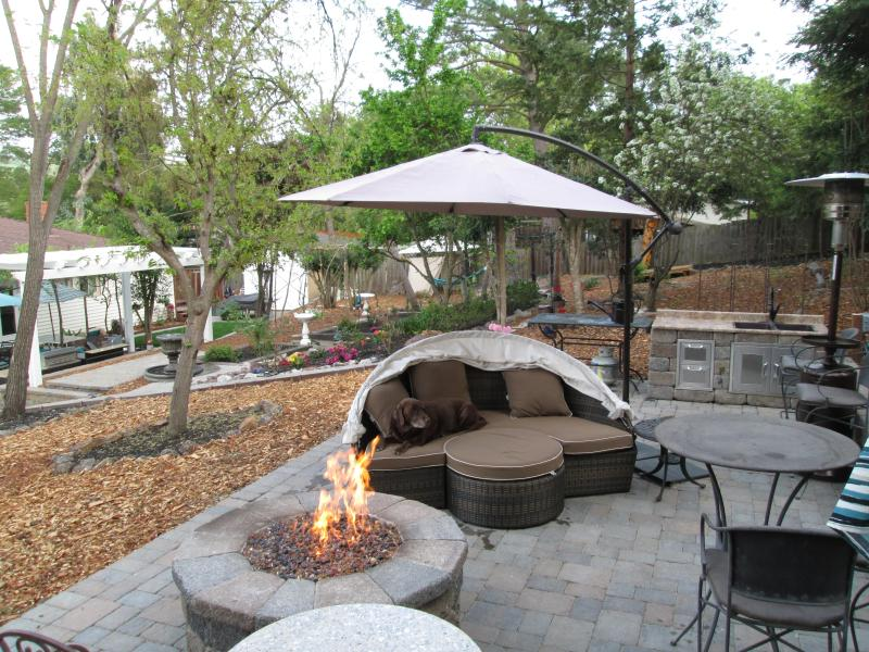Upper Patio With Gas Burning Firepit & Upper Patio with Sink - A Great Getaway in Walnut Creek w/a Murphy Bed! - Walnut Creek - rentals