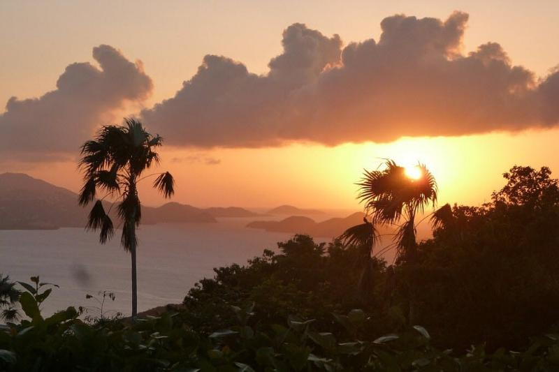Another gorgeous sunset at Plumeria! - Spectacular Ocean Views, Sunsets, Heated Pool, Spa - Saint John - rentals