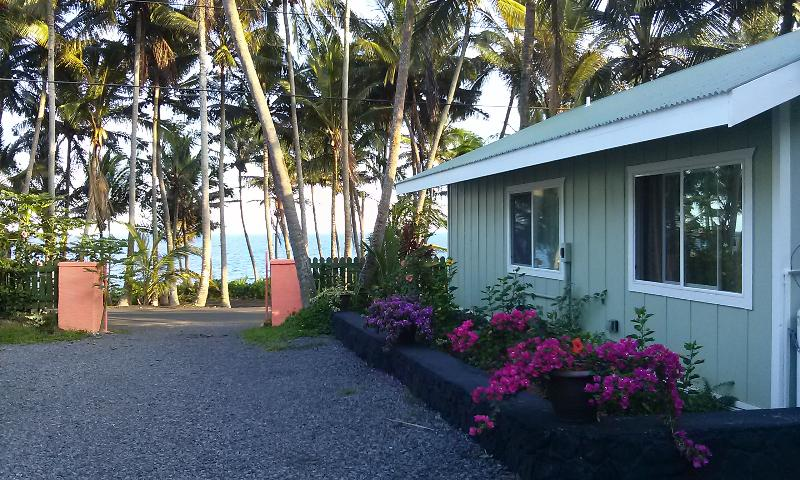 Side view of the Gumamela Oceanfront Cottage - The Whale House @ Kehena Beach - Big Island - Pahoa - rentals