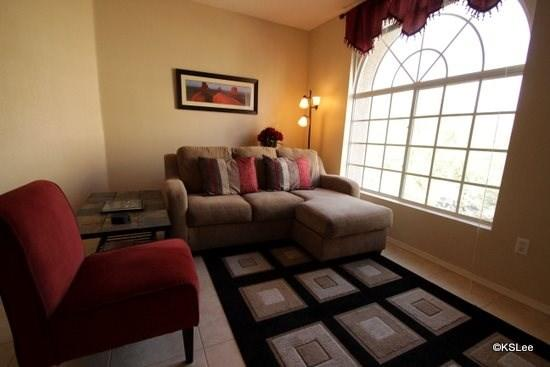 Living Room with Large Window and Mountain Views - One Bedroom Condo in Boulder Canyon with Excellent Mountain Views - Oro Valley - rentals