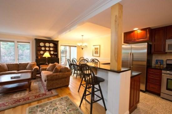 Open floor plan - Enjoy Fresh Mountain Air this Summer! 3BR, 3 BA Home at Topnotch overlooking tennis courts, close to Spa and pools! - Stowe - rentals