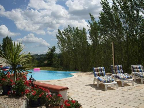Infinity swimming pool - Cottage for 4 with infinity swimming pool in SW France - Touffailles - rentals