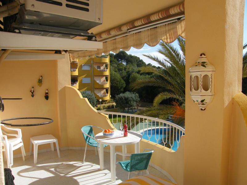 Balcony looking over pool grounds and sea - Front line apartment in small village Costa Blanca - El Campello - rentals