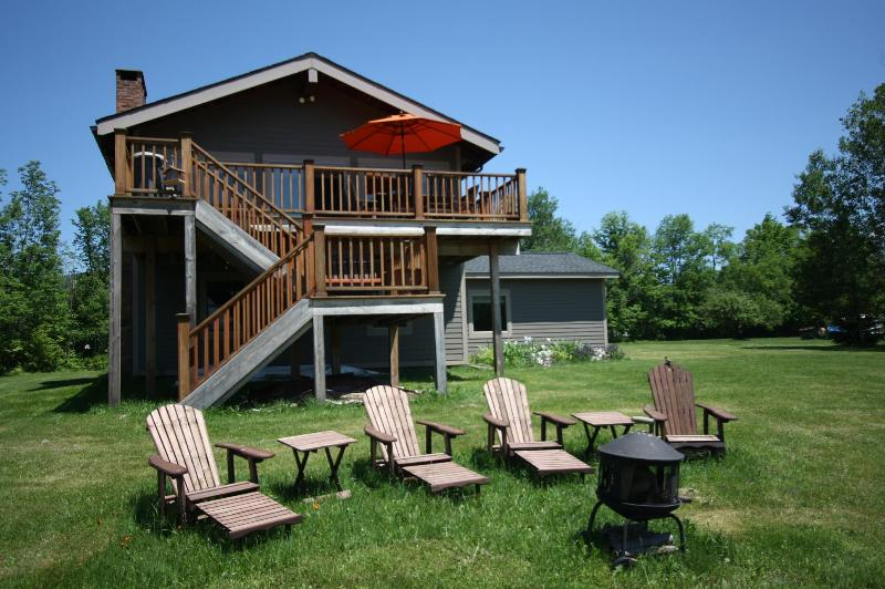 Fire Pit with Big Daddy Adirondack Reclining Chairs - 4 Season Nirvana, Hot Tub, Windham Mountain Views, WiFi & Minutes to Town! - Windham - rentals