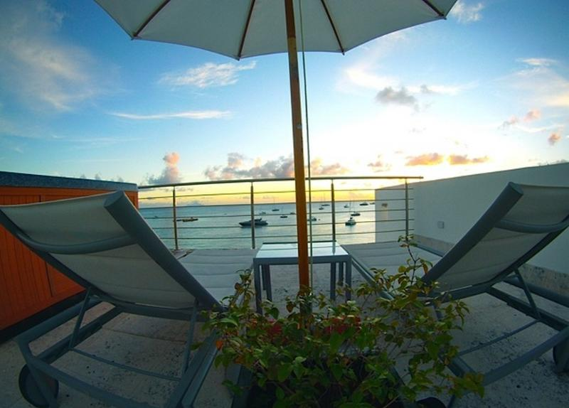 Aqualina #402 at Simpson Bay Beach, Saint Maarten - Beachfront, Ocean View, Rooftop Hot Tub - Image 1 - Saint Maarten - rentals