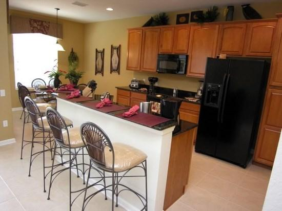 Breakfast Bar and Kitchen - WH5P2607PS Fully Furnished Kissimmee Disney Villa - Kissimmee - rentals