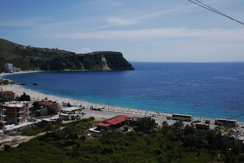 the view from the apartment - Amazing sea view central aprtm in Himare - Himare - rentals