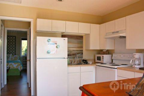 Complete kitchen stocked with dishes, utensils, pans - 16 Center St. Unit 5 - Folly Beach - rentals