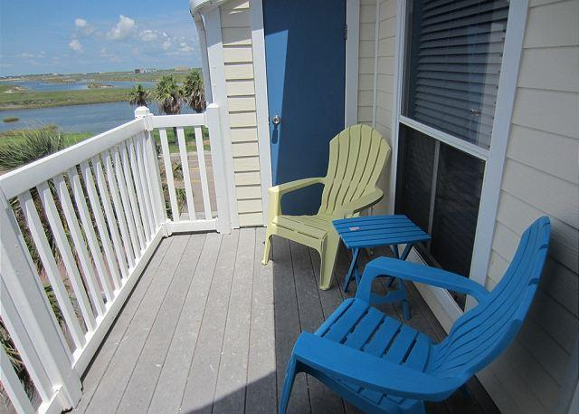 Patio with great view of Lake Padre - Paradise Villa - Corpus Christi - rentals