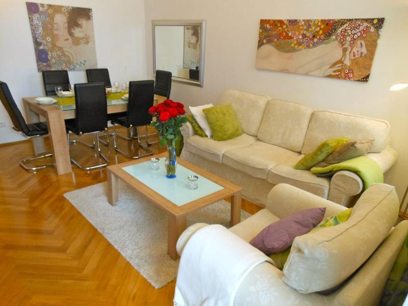 Modern apartment of 75m2 - the sofa can be turned into a sofa bed sleeping two - Next to Palace Hofburg - with GARDEN - Apt. 8 - Vienna - rentals