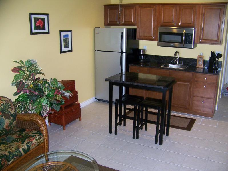 Kitchenette with Granite Counters - Kona Condo - Remodeled Studio- in the Heart of Kona Village - Kailua-Kona - rentals