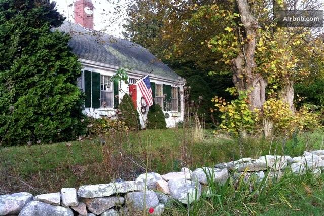 South facing front with historic stone wall - Marston Family Vacation Rental - Hyannis - rentals
