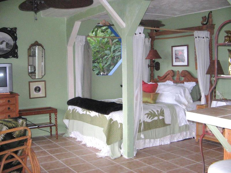 Queen Bed - Beth's Hawaiian Hideaway Plumeria Suite Kona Side - Captain Cook - rentals